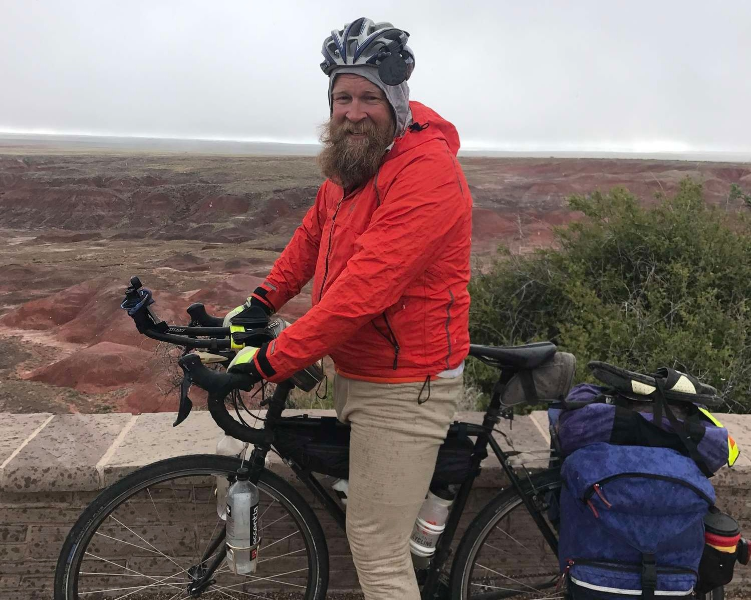 Our Senior Editor Brandon Lampley will guide you through his bikepacking gear packing list explain what is in his lightweight bike touring system.   Photo courtesy Brandon Lampley.