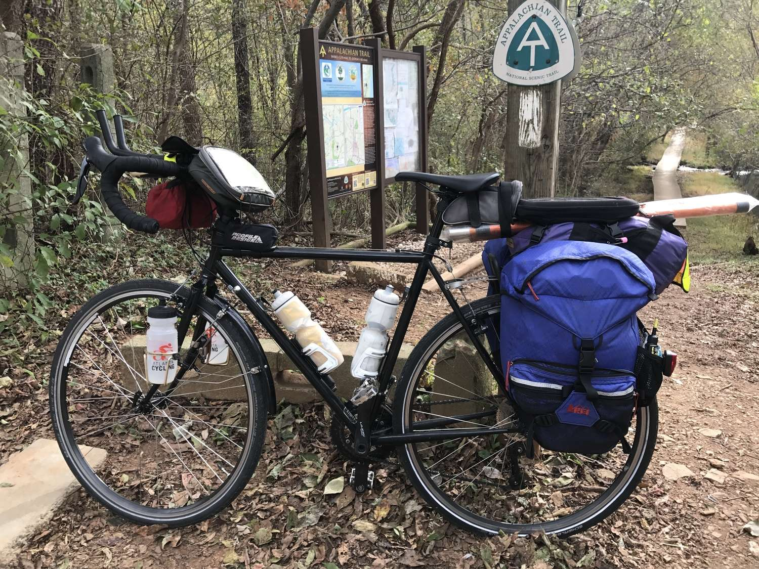 A stem bag can be designed for using paper maps, but also can store sunscreen, eyedrops, lip balm, or anything else you are likely to want close at hand.   Photo courtesy Brandon Lampley.