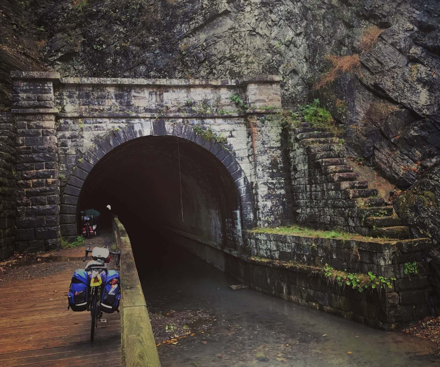 A tunnel along a popular bike touring route.   Photo courtesy Brandon Lampley.