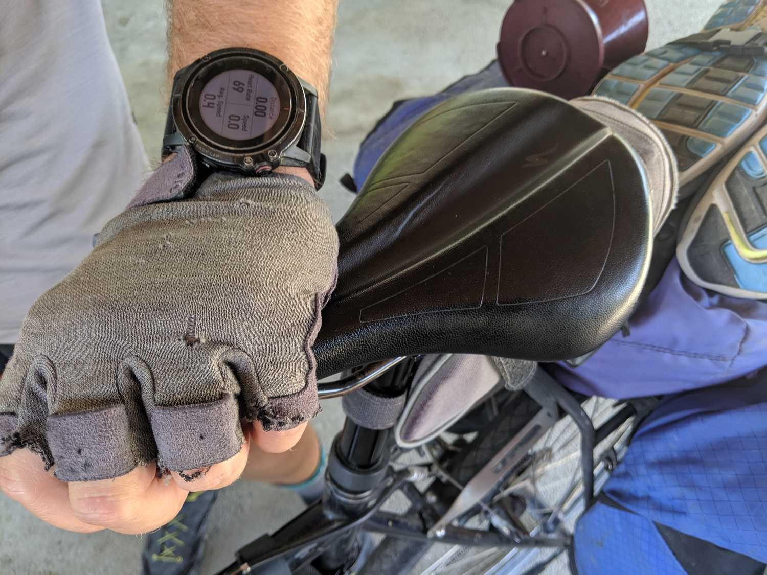 Bike gloves protect your hands from the sun and keep a better (less sweaty) grip on your handlebars.   Photo by Liz Thomas.
