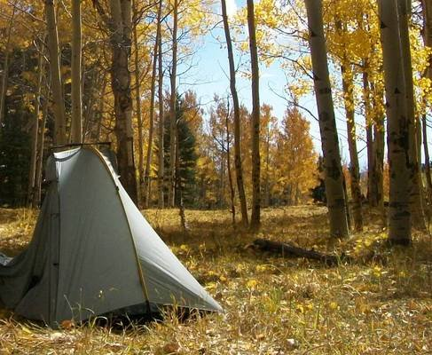 The TarpTent Double Rainbow set up in northern New Mexico.   Photo by Liz Thomas