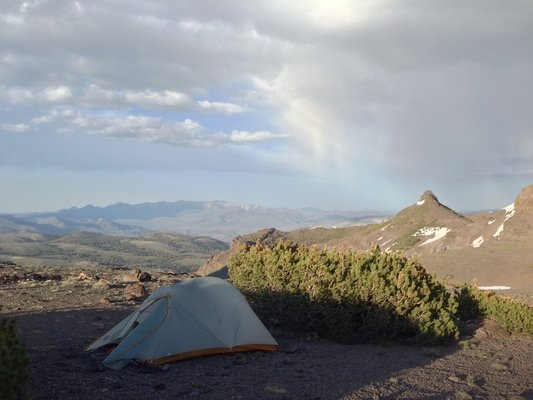 The Big Agnes Fly Creek HV UL 2 in the wild.