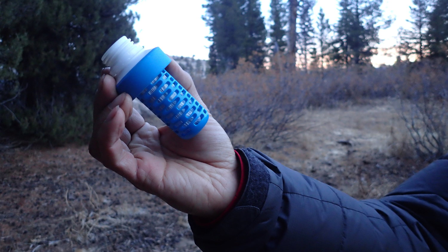 The Katadyn BeFree filter unattached to its bottle.   Photo by Liz Thomas