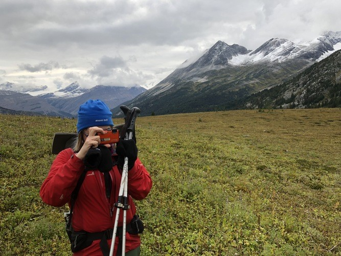 The Nikon Coolpix was put through the ringer in the Canadian Rockies..   Photo by Mike Unger.