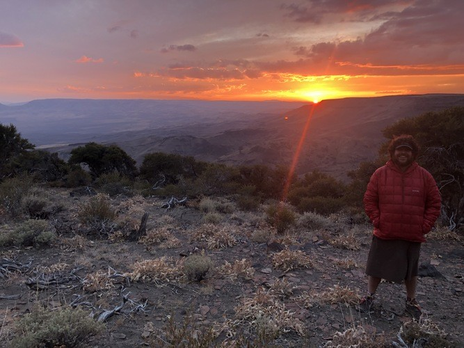 The Lumix in low light conditions on the Oregon Desert Trail in the autumn.   Photo courtesy Whitney LaRuffa.