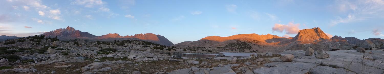 Panorama taken in the Sierra with the Panasonic Lumix.   Photo by Whitney LaRuffa.