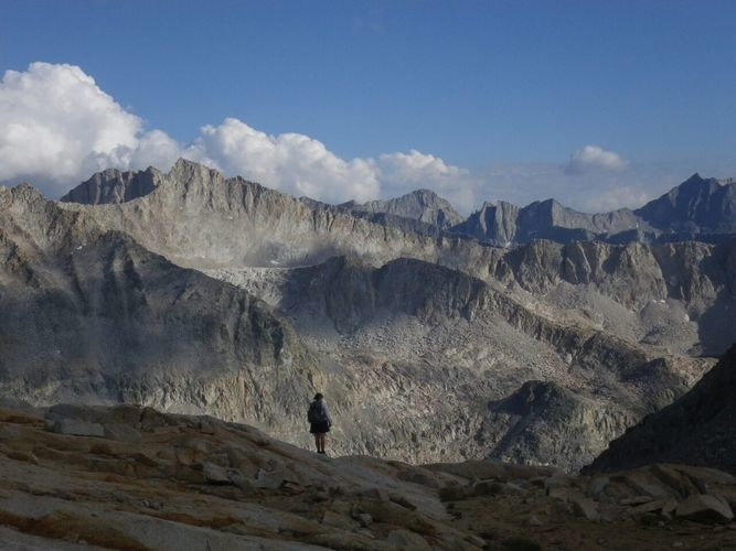 Photo taken with the Ricoh on the Sierra High Route.   Photo by Liz Thomas