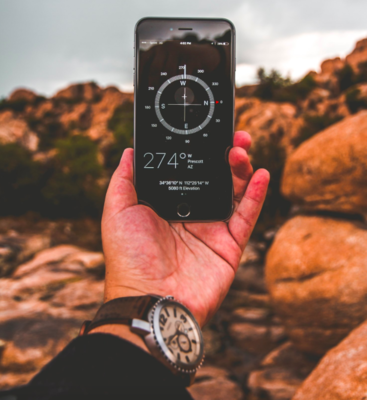 A phone, can replace or serve as a back-up to several backcountry tools.   Photo by Robert Penaloza on Unsplash