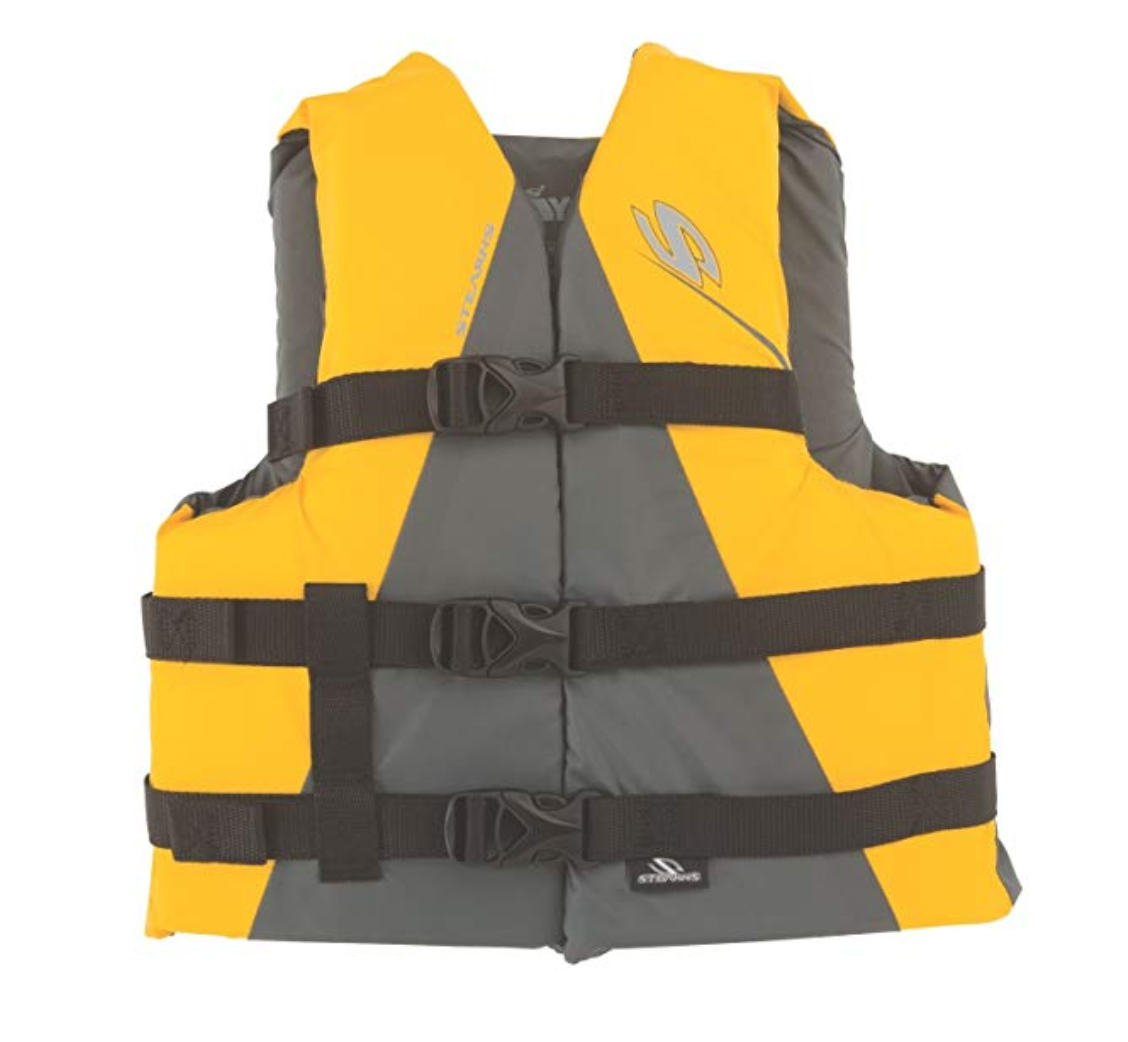 The Stearns Adult Classic Life Jacket is our budget pick. Rafters on the Taiya River, Skagway, Alaska.