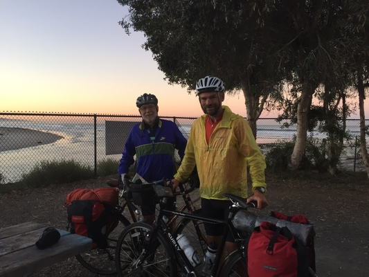 The Surly Long Haul Trucker and Trek 520 on their way down the Pacific Coast Route.