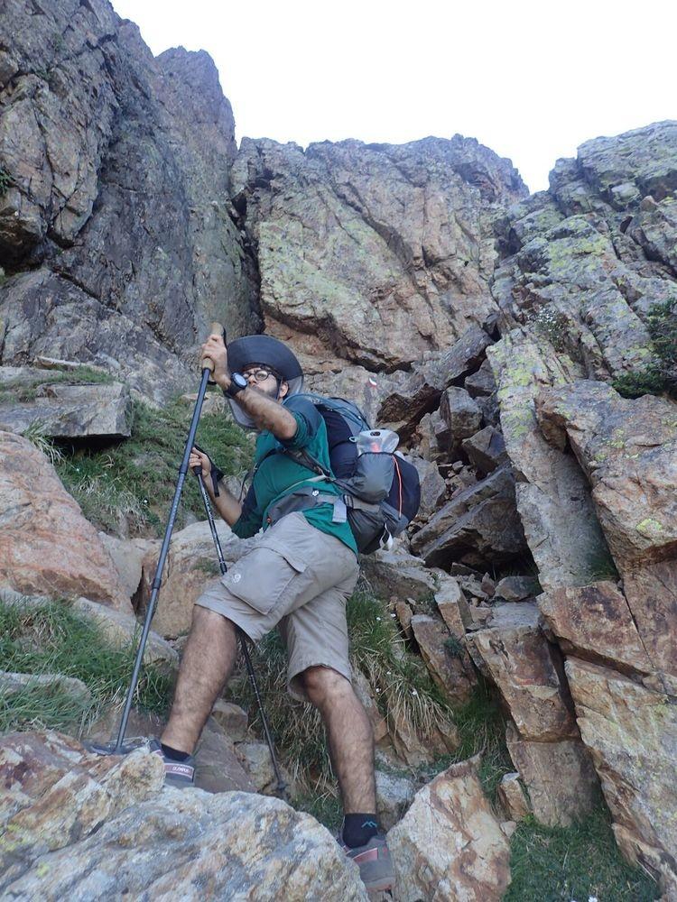 The Suunto Ambit3 Peak on a test hike.