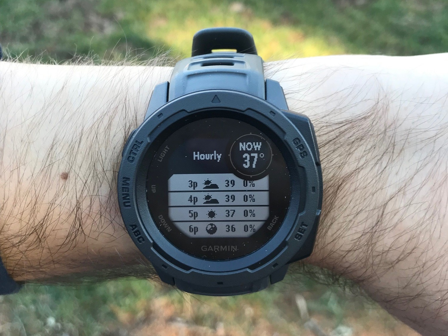 While tracking the weather isn't an essential aspect of a GPS watch, it sure is a nice perk.