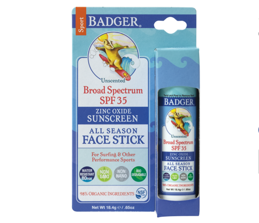 sunscreen - Badger Unscented Sport Sun StickRead why→