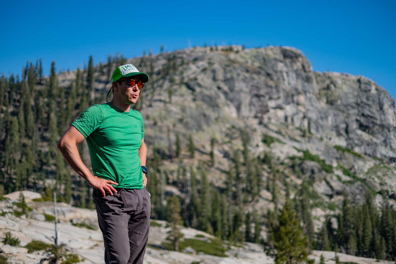 Comfortable hiking pants and a merino hiking shirt will serve you well in Yosemite.   Photo by Duncan Cheung.