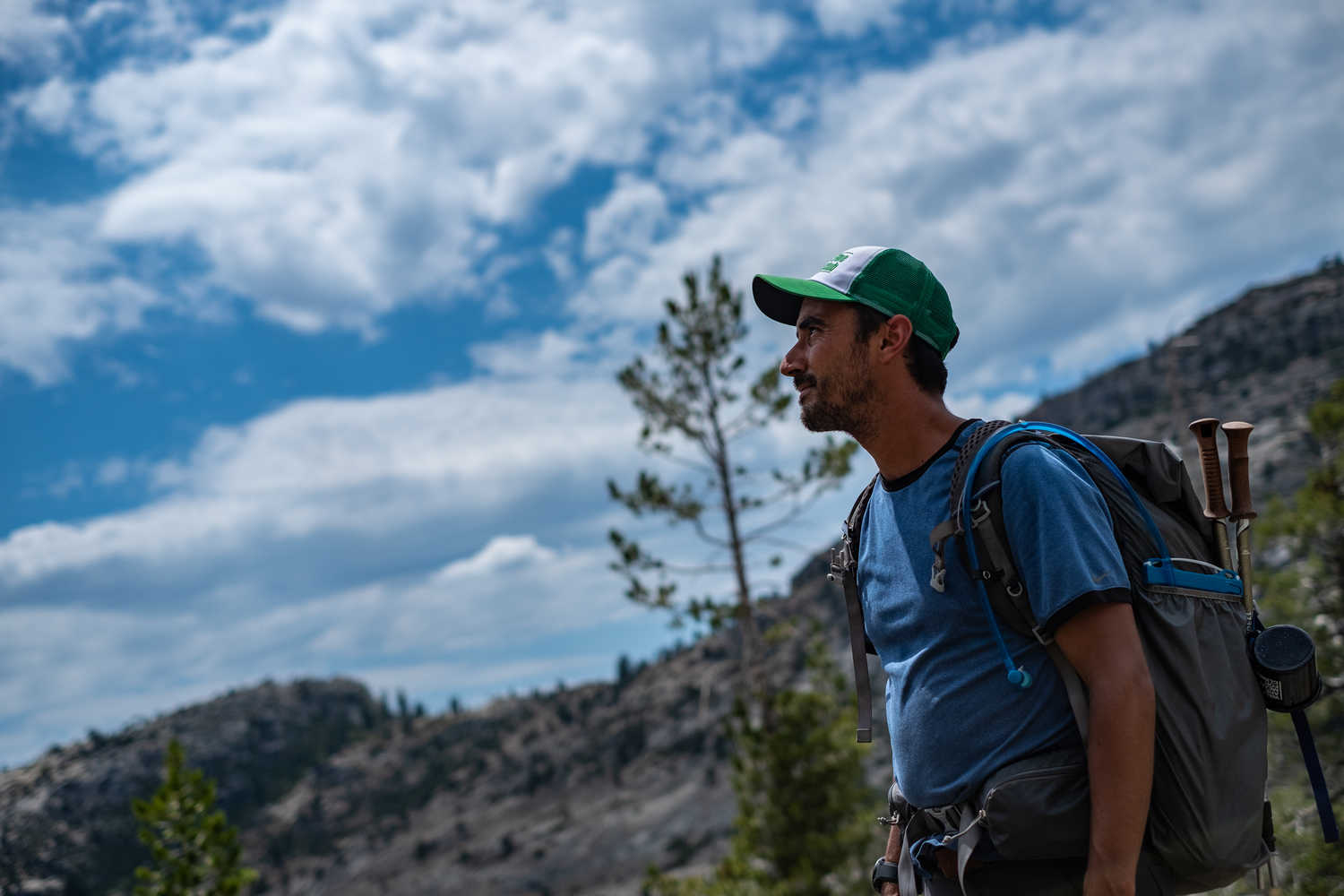 The clothing you need in Yosemite will likely be the same whether you are day hiking and staying in a lodge or backpacking and staying in your tent.   Photo by Duncan Cheung.