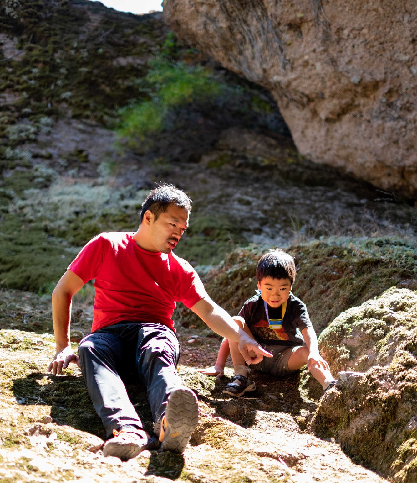Author, mountain guide Duncan Cheung with his son Kiyo.   Photo courtesy Duncan Cheung.