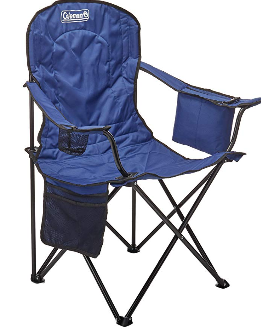 The Coleman Oversized Quad is a gold standard for camping chair with abundant pockets for all the items you'll want close at hand.