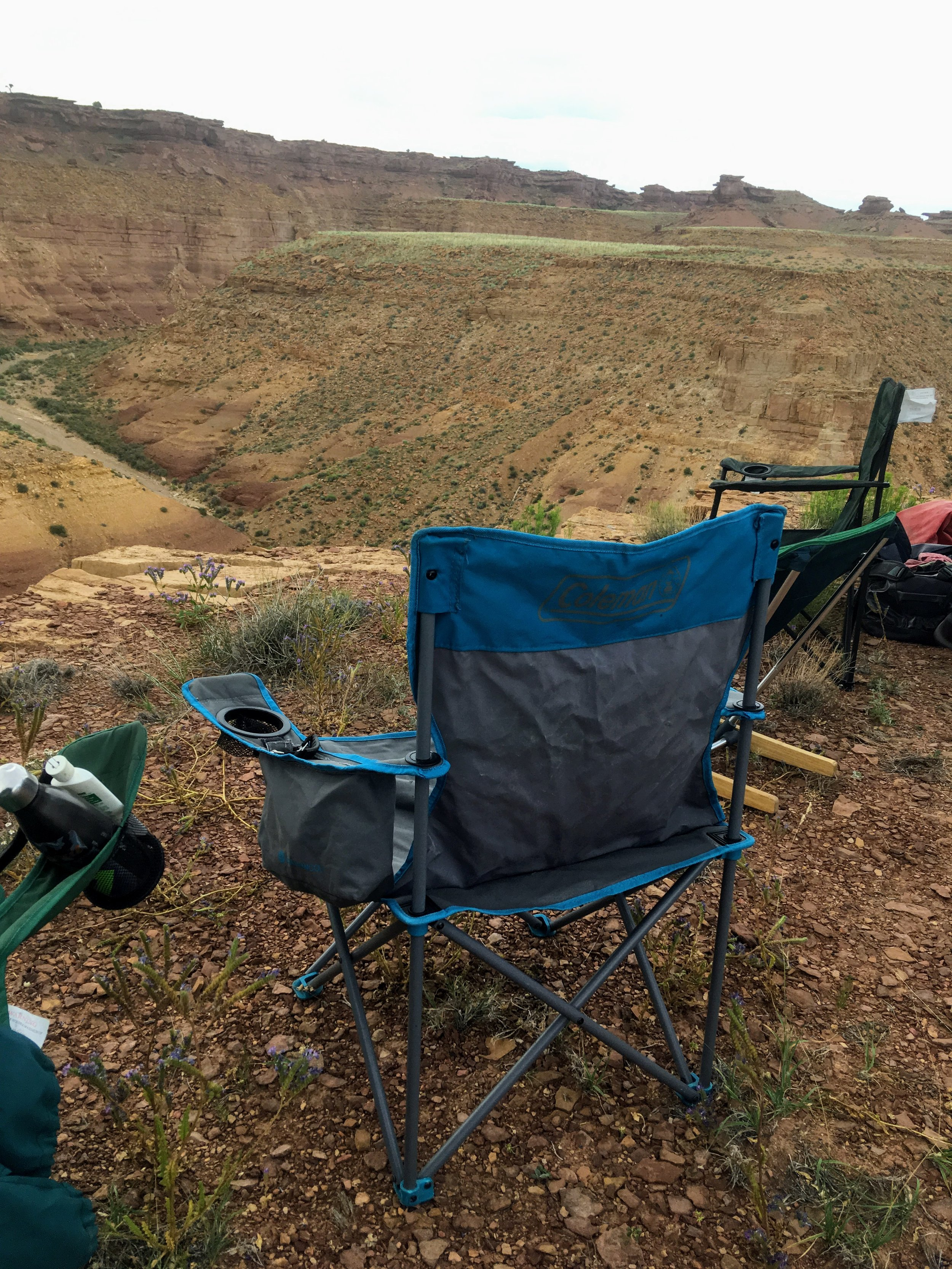We tested the Coleman on a few desert camping trips and especially liked the generous drink pockets, which have enough room to also hold sunscreen, hats, or cameras.   Photo courtesy Josette Deschambeault