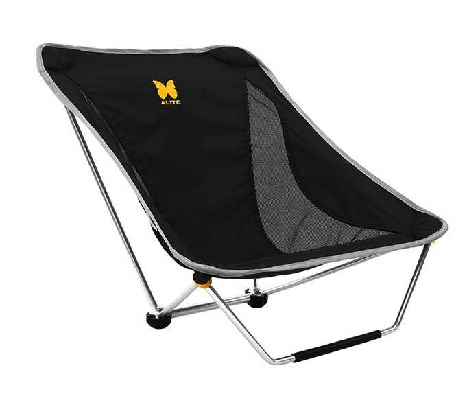 The Alite Mayfly has a specialty design that actually works: a rocking chair camping chair that is comfortable.