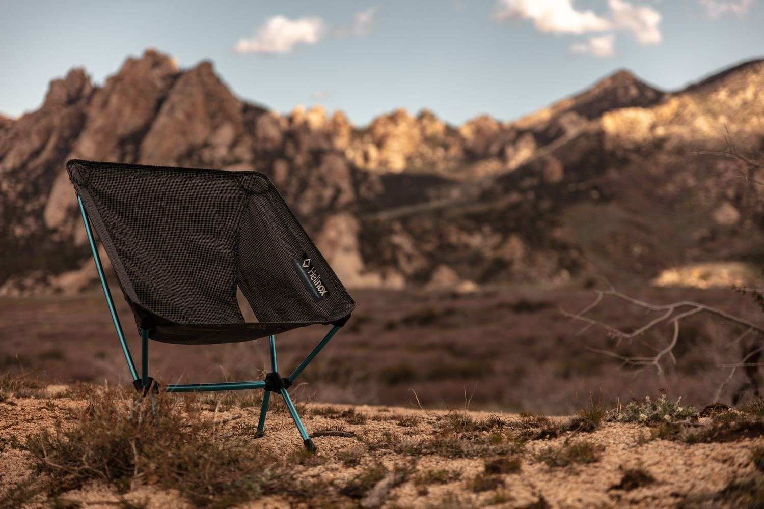 The   Helinox Zero Chair    is our lightweight chair option.   Photo by Patrick Hendry on Unsplash.