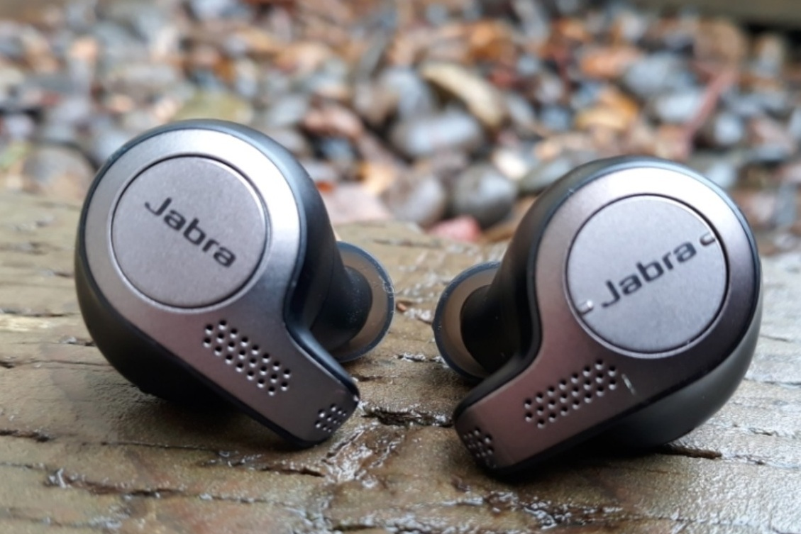 No wires!! The Jabra Elite Active 65T are truly wireless.   Photo by Emma Weeks.
