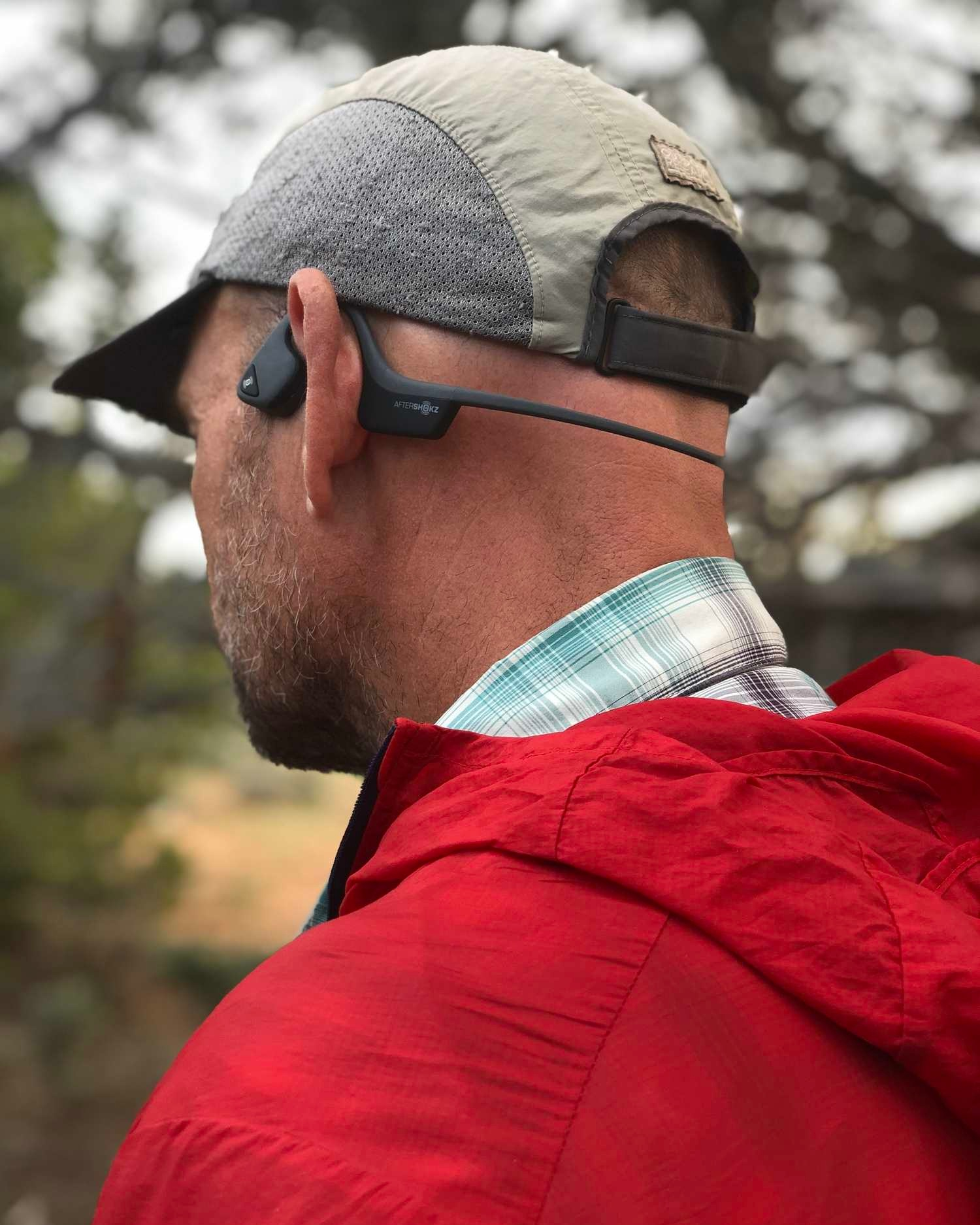 The Aftershokz Trekz Air is our top pick for the best situational awareness wireless headphones.   Photo by Naomi Hudetz.
