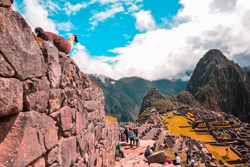 Macchu Pichu scene.
