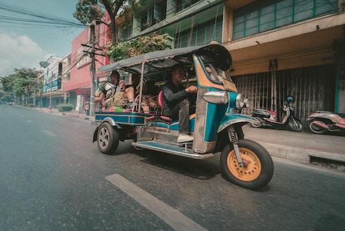An open air taxi in Thailand.