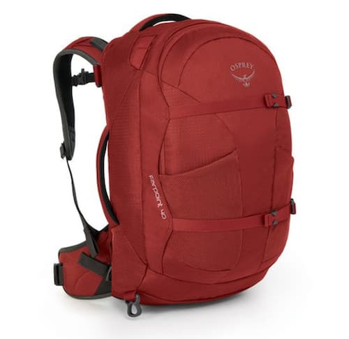 The Osprey Farpoint is our top pick for men's travel backpack.