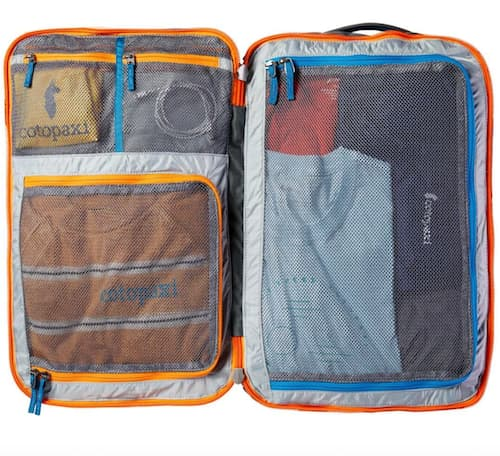 The Cotopaxi Allpa, shown here fully packed.