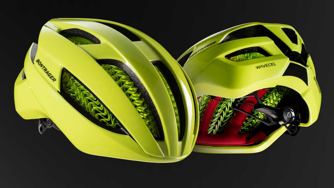 The Bontrager Specter WaveCel with multiple views.