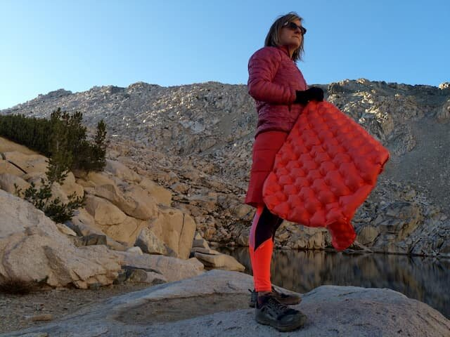 The Patagonia Micropuff jacket has the best warmth to weight ratio of the synthetics we looked at.   Photo by Liz Thomas