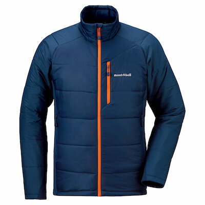 The Montbell Thermawrap is the lightest weight synthetic jacket and a favorite of ultralight hikers.