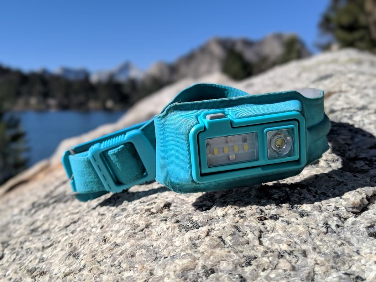 The BioLite headlamp on an October trip in the Sierra