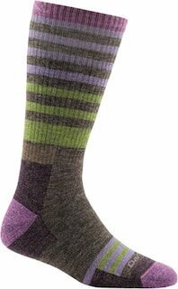 The Darn Tough Full Cushion boot socks come in fun color and designs