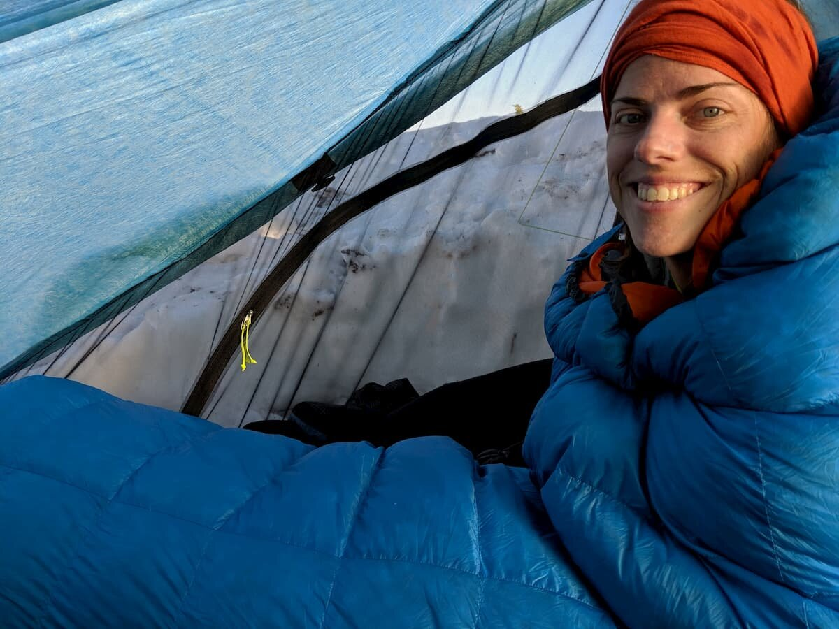 A warmer sleeping bag can alleviate the discomfort associated with the long fall nights.   Photo by Dan Slattery