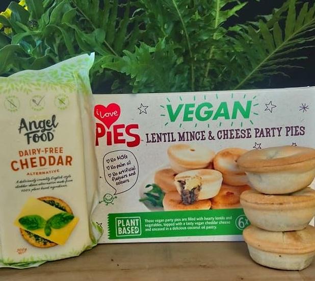 Lentil Mince & Angel Food Cheddar Pies