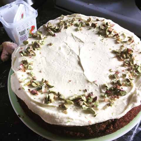 Thanks Bex for sharing your photo and recipe with the Angel Food Recipe Club! This is a beautiful carrot and ginger cake with orange zest cream cheese frosting, yum!