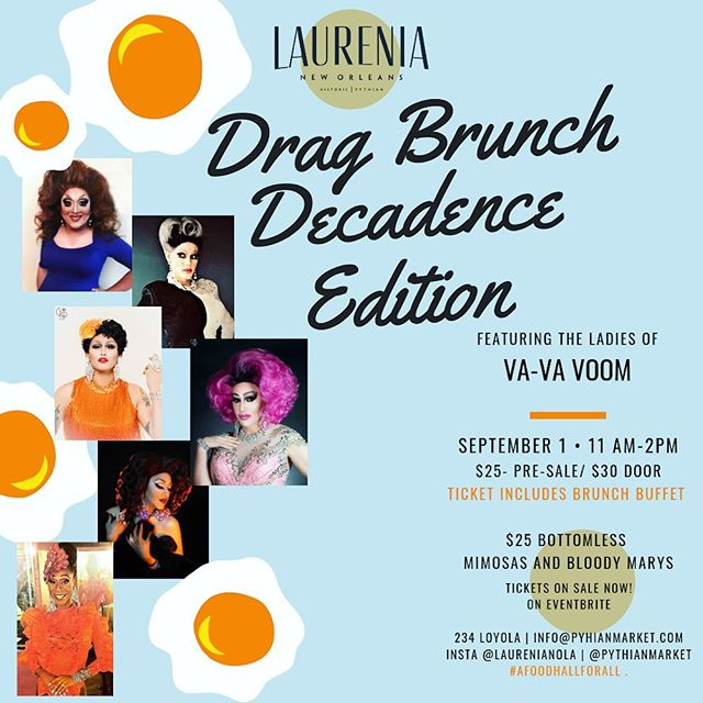 MARK YOUR CALENDARS! Little Fig is catering the Decadence Jazz Brunch of your dreams at @laurenianola in the @pythianmarket . . . #littlefig #brunch #neworleans #nola #jazzbrunch #dragshow #decadence #decadencenola #pythianmarket #wherenolaeats #followyournola #nolafood #nolagourmand