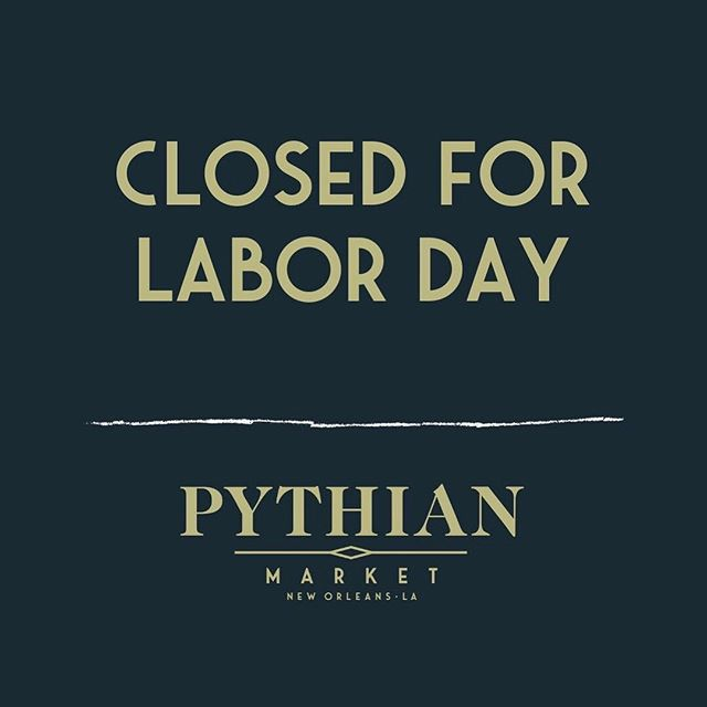 We're going to be closed for Monday but come get your falafel fix the rest of the week! 🥙🥙 . . . #littlefig #laborday #pythianmarket #afoodhallforall #nolafood #nola #neworleansfood #neworleans #followyournola #onetimeinnola