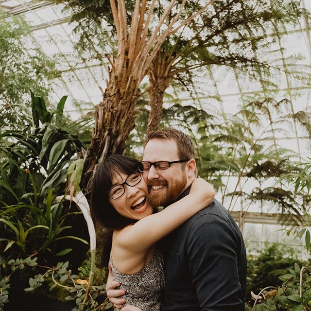 We spent basically all day together at the @nybg and now I'm even more obsessed with how cool they are. More botanical garden engagement please!