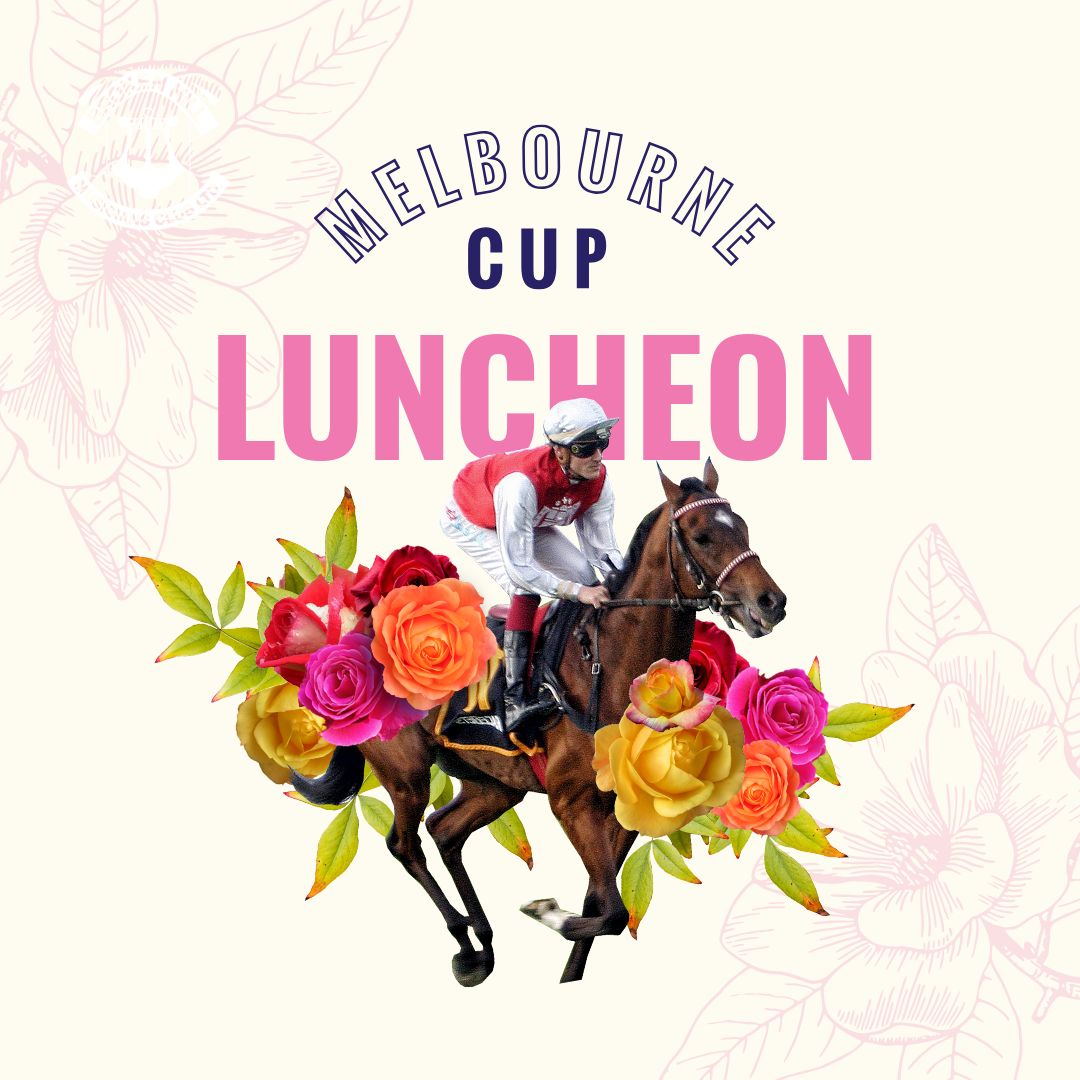 Melbourne Cup Luncheon Template with jockey on Horse with Flowers-3..jpg