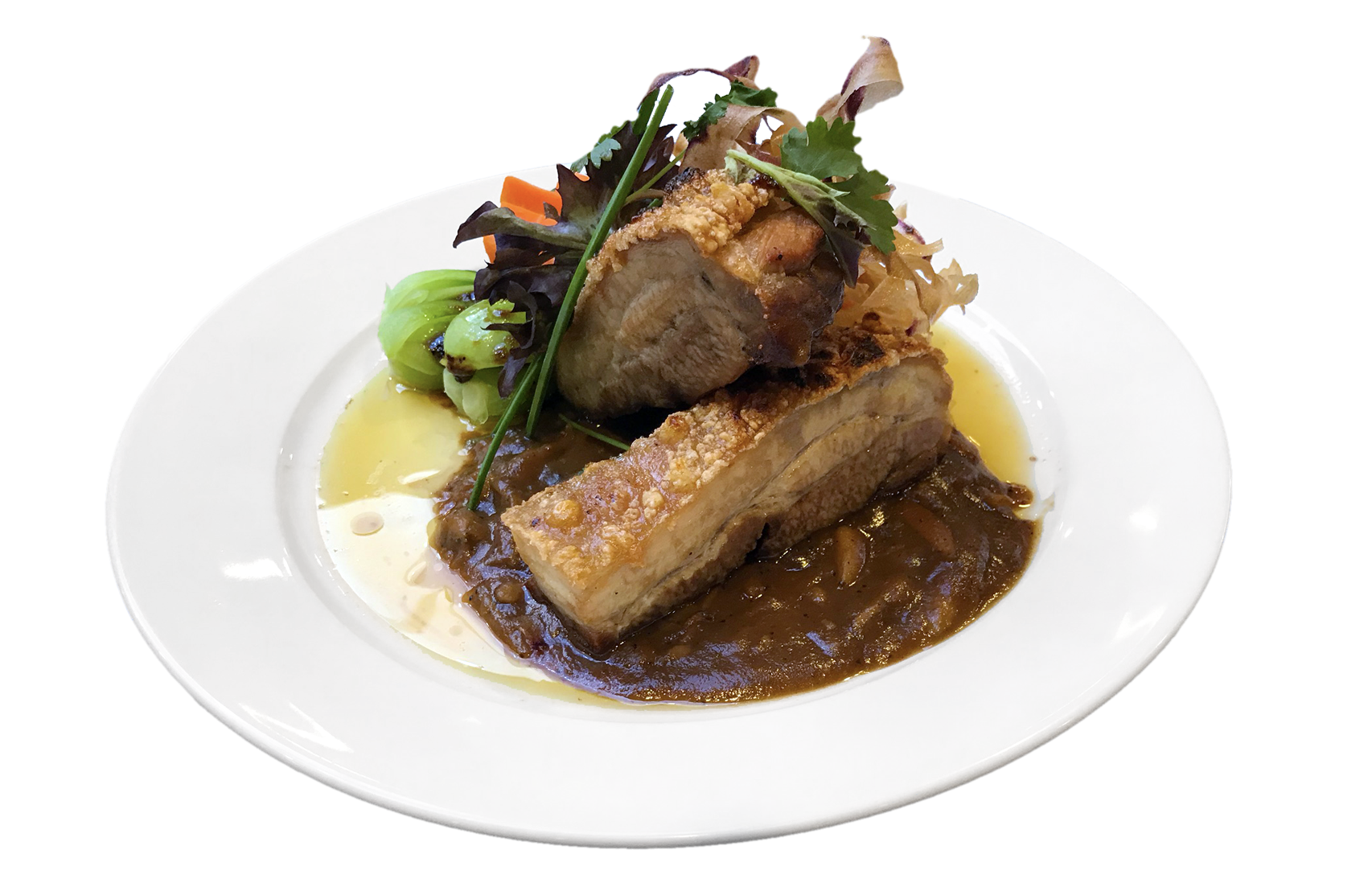 Pork Belly with Asian Greens only 1440 Members Points