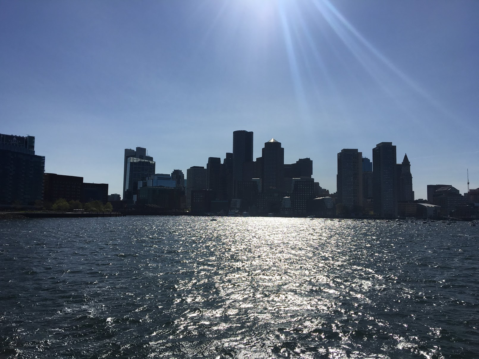 A view of Boston from Boston Harbor