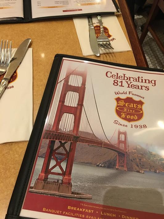Sears Fine Food menu
