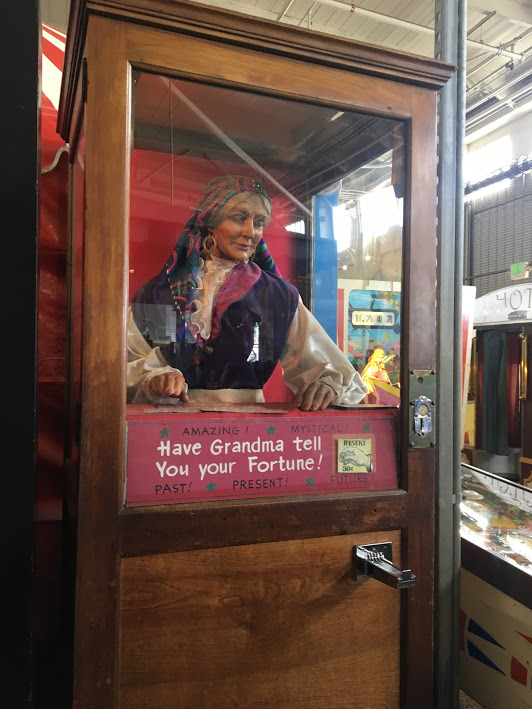 Fortune-telling Grandma at the Musée Mécanique