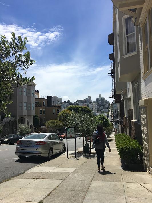 Walking through North Beach SF
