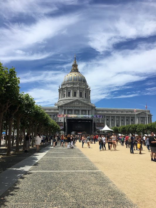 Civic Center Plaza during Pride