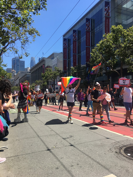 Marchers in the SF Pride Parade