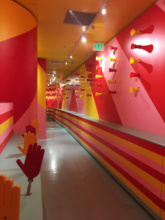 An odd hallway at the Museum of Ice Cream
